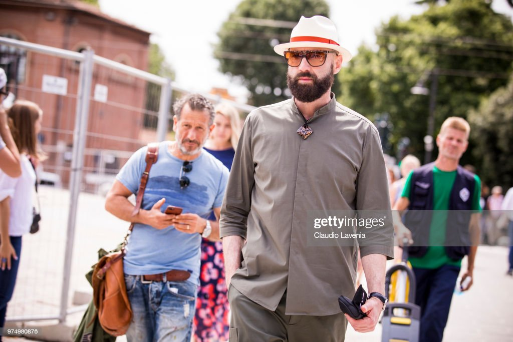 Street Style: June 14 - 94. Pitti Uomo : News Photo