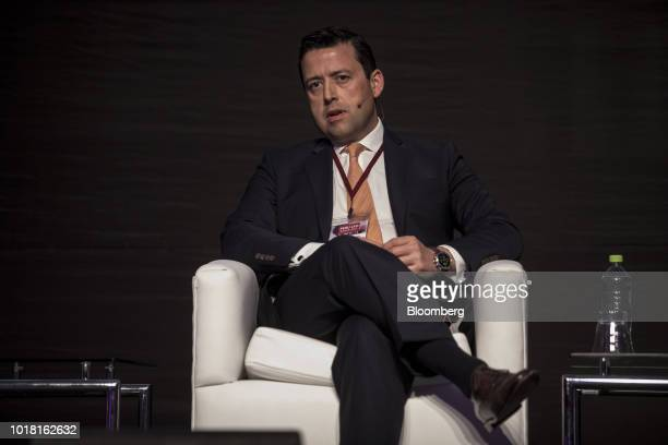 Raimundo Kirsten chief financial officer of AJE Group speaks during the Peru CFO Summit in Lima Peru on Thursday Aug 16 2018 The summit brings...
