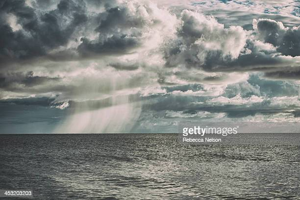 Rain and clouds over the Gulf of Mexico