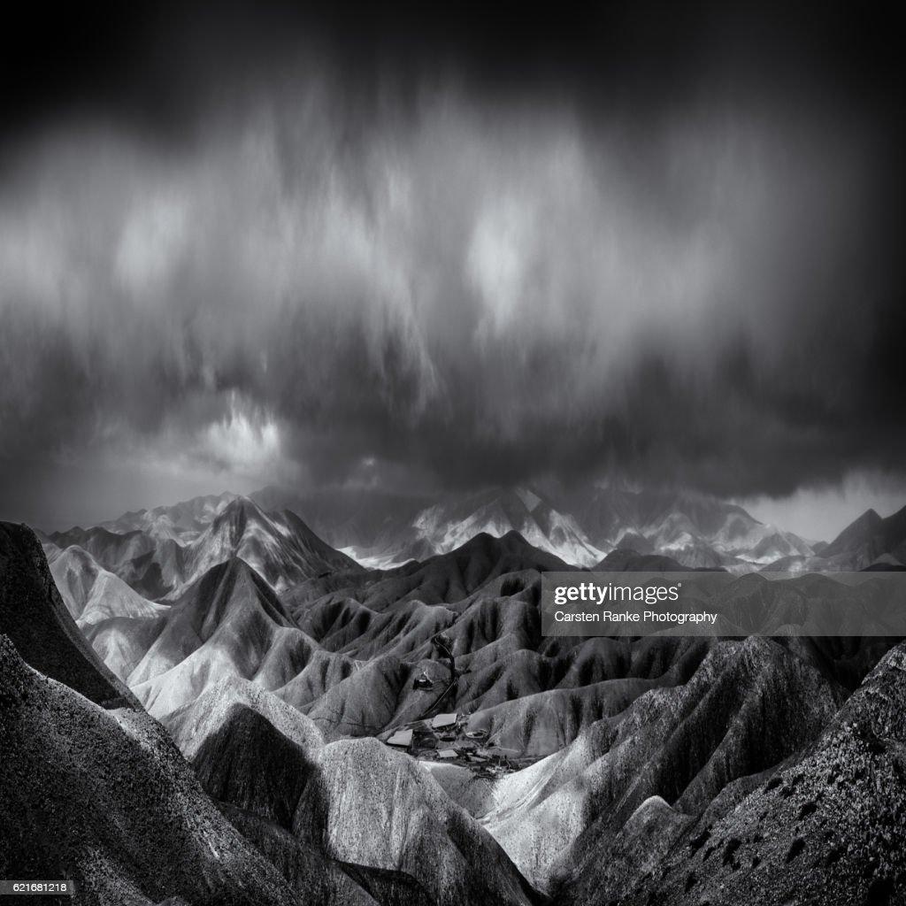 Rain clouds, Fuerteventura : Stock-Foto