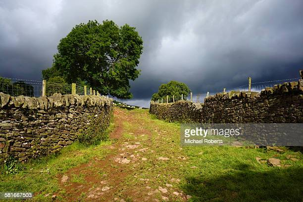 Rain clouds in the Black mountains, Wales