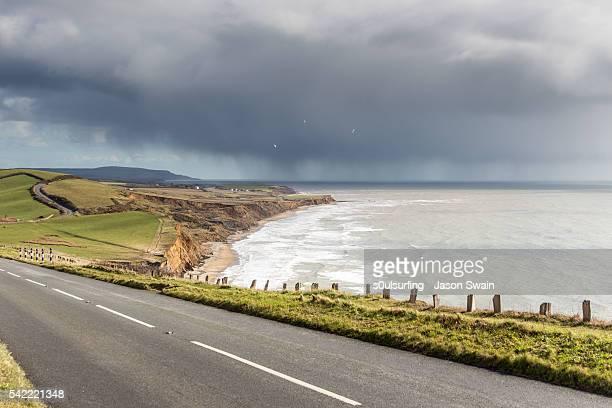 Rain clouds over Compton Bay, Isle of Wight
