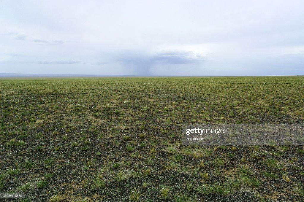 Columna de lluvia en Mongolia : Foto de stock