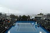 hobart australia rain delays play during