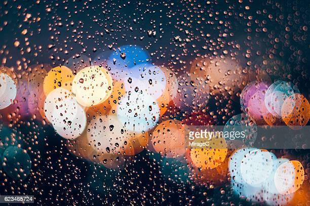 Rain Droplets on Window