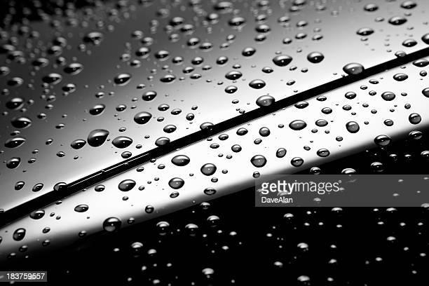 Regen-Tropfen Auto