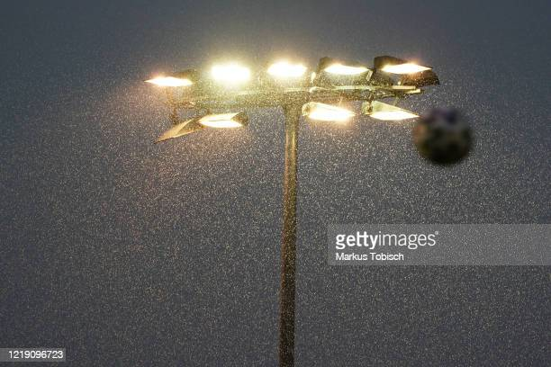 Rain during the 2.Liga match between SV Licht Loidl Lafnitz and Young Violets Austria Wien at Fussball Arena Lafnitz on June 10, 2020 in Lafnitz,...
