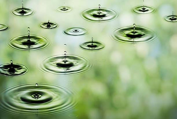 Rain - Falling Drops Of Water (XXXL Size) Wall Art
