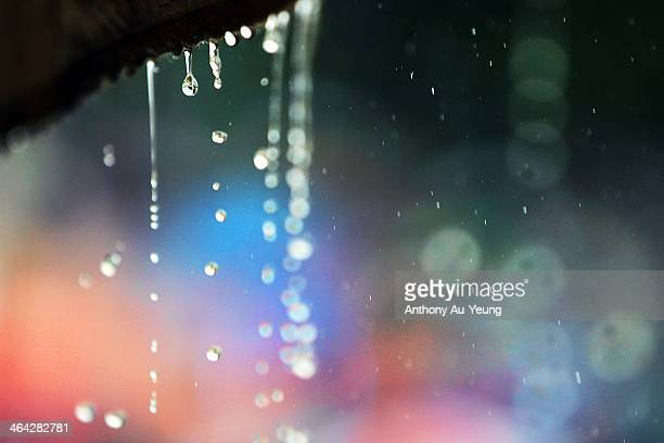 Rain falls during the One Day International match between New Zealand and India at Seddon Park on January 22 2014 in Hamilton New Zealand