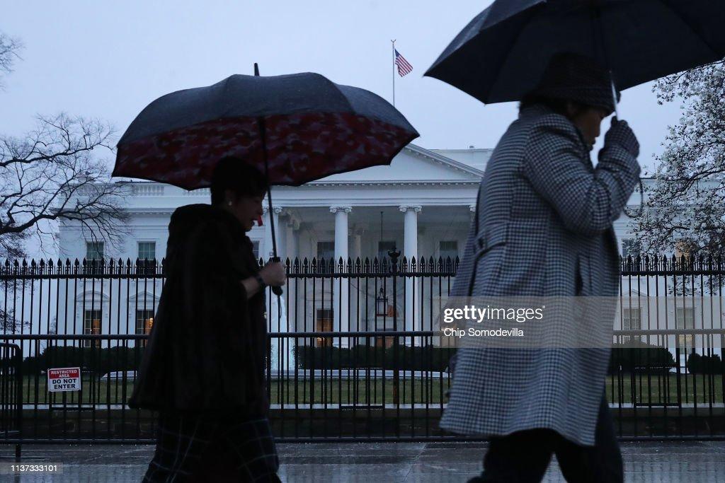 DC: Spring Brings Rain Showers To Washington, D.C.