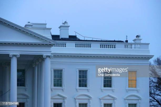 Rain falls on the White House March 21 2019 in Washington DC The second day of spring brought showers to the United States capital region