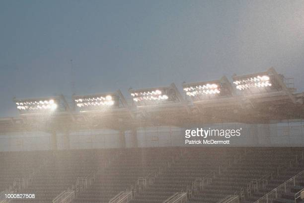 Rain falls prior to the 89th MLB AllStar Game presented by Mastercard at Nationals Park on July 17 2018 in Washington DC