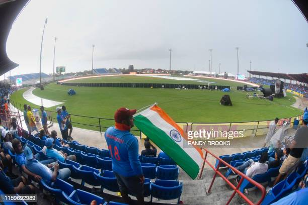 Rain has stopped play of the 2nd T20i match between West Indies and India at Central Broward Regional Park Stadium in Lauderhill, Florida, on August...