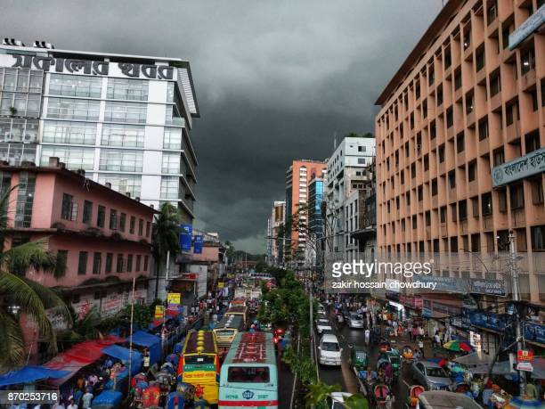rain in city - dhaka stock pictures, royalty-free photos & images