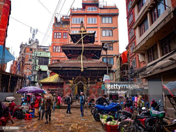 Rain in Kathmandu, Nepal - March 11, 2017