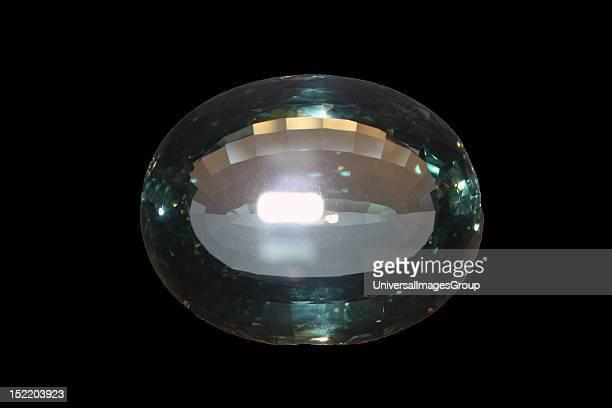 Rain in sea water Beryl variety aquamarine 898 carats Russia 1868
