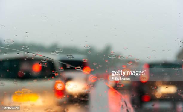 Rain on motorway