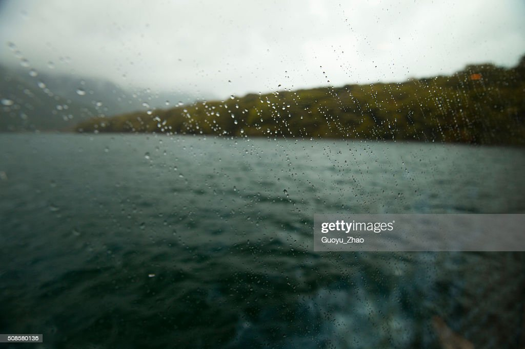 Rain on the window : Stock Photo