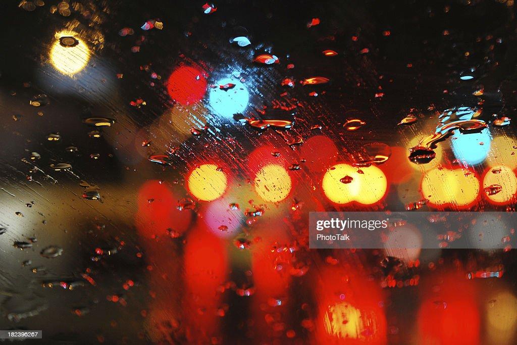 Rain on Window - Large : Stock Photo