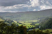 Rain over Swaledale, Yorkshire Dales, Northern England.