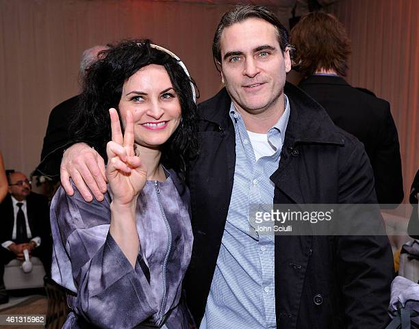 Rain Phoenix and Joaquin Phoenix celebrate with PerrierJouet at The Art of Elysium's 8th Annual HEAVEN Gala presented by Samsung Galaxy at Hangar 8...