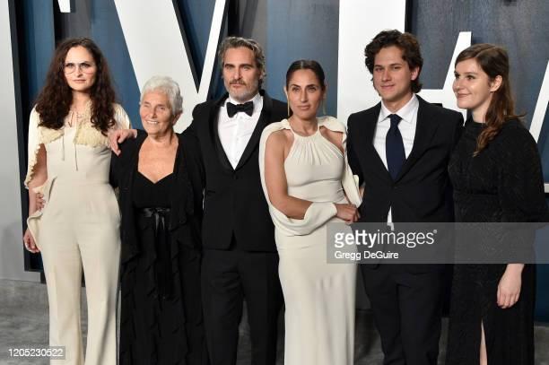 Rain Phoenix, Arlyn Phoenix, Joaquin Phoenix, Summer Phoenix and guests attend the 2020 Vanity Fair Oscar Party hosted by Radhika Jones at Wallis...