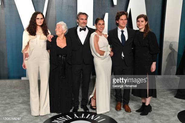 Rain Phoenix Arlyn Phoenix Joaquin Phoenix Summer Phoenix and guests attend the 2020 Vanity Fair Oscar party hosted by Radhika Jones at Wallis...