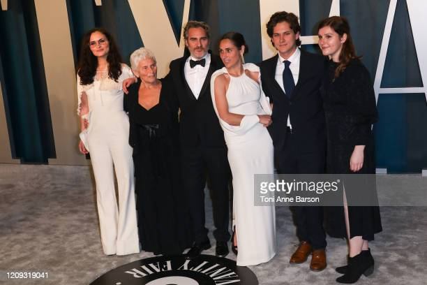 Rain Phoenix Arlyn Phoenix Joaquin Phoenix Summer Phoenix and guests attend the 2020 Vanity Fair Oscar Party at Wallis Annenberg Center for the...
