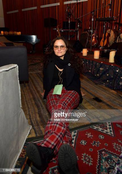 Rain Phoenix attends the release party to celebrate her new album RIVER hosted by Joaquin Phoenix at Jim Henson Studios on October 28 2019 in...