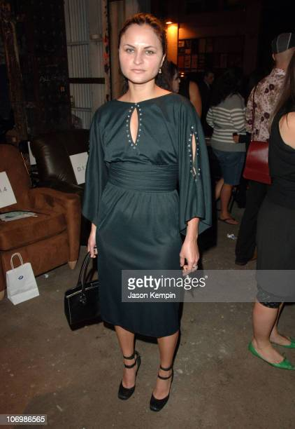 Rain Phoenix during Olympus Fashion Week Spring 2007 Imitation of Christ Front Row and Backstage at 508 West 25th Street in New York City New York...
