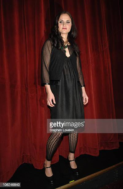 Rain Phoenix of The Citizens Band wearing Edun Fall 2007