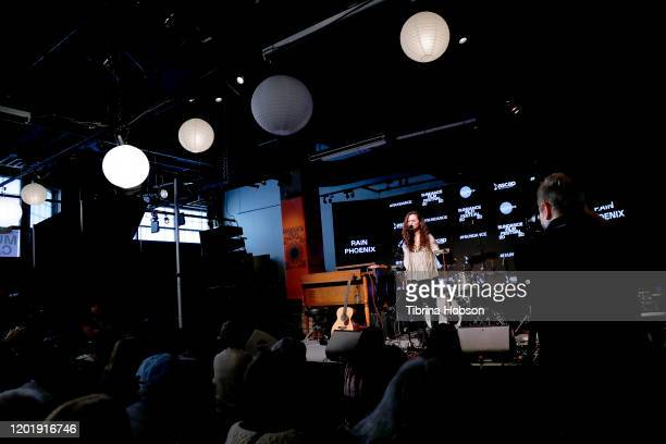Rain Phoenix performs onstage at the 2020 Sundance Film Festival at The Sundance ASCAP Music Cafe at Egyptian Theatre on January 25 2020 in Park City...