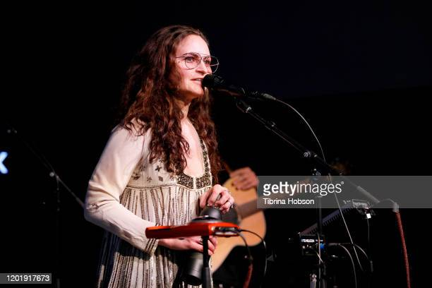 Rain Phoenix performs onstage during the 2020 Sundance Film Festival at The Sundance ASCAP Music Cafe at Egyptian Theatre on January 25 2020 in Park...
