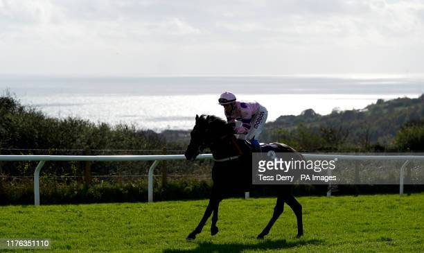 Rain Prancer ridden by Megan Nicholls goes to post during the EBF Novice Stakes at Brighton Racecourse