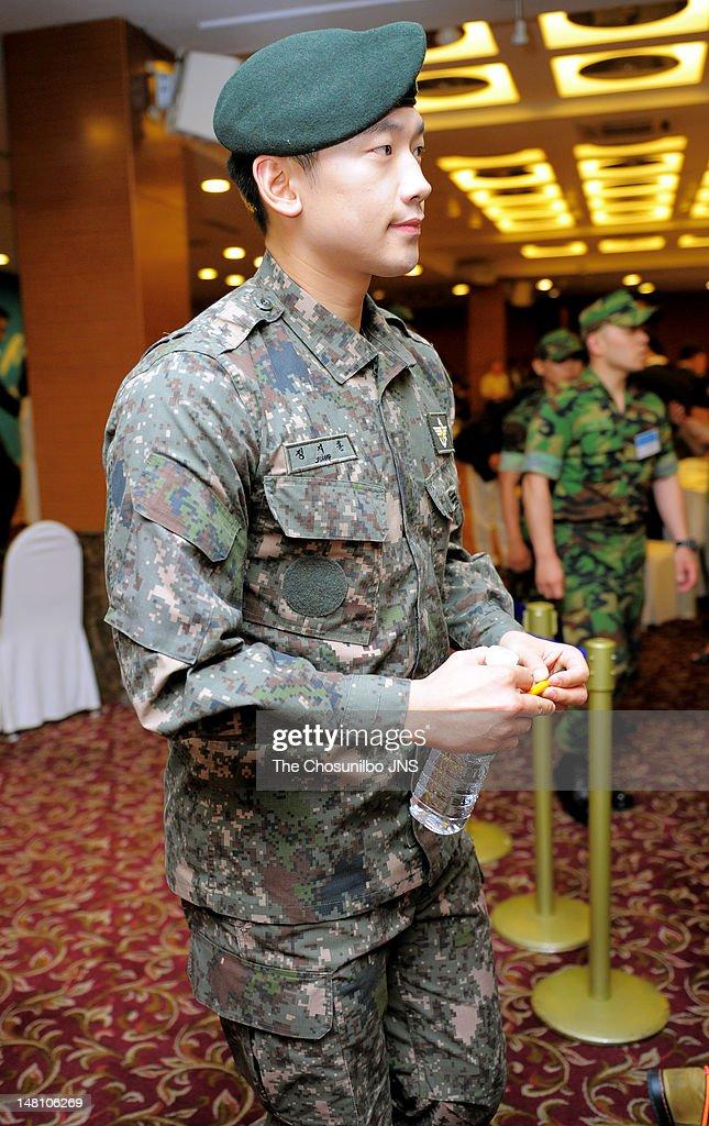 KOR: Rain Attends '2012 Noble Military Family Awards'