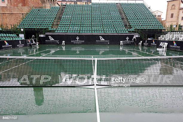Rain stops play during day 3 of the South African Tennis Open at Montecasino on February 4, 2009 in Johannesburg, South Africa.