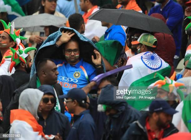 Rain stops play during the ICC Champions Trophy Group B match at Edgbaston Birmingham