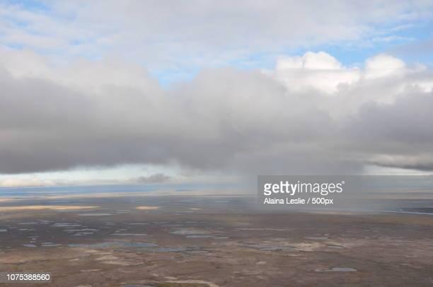 Rain storm over the tundra
