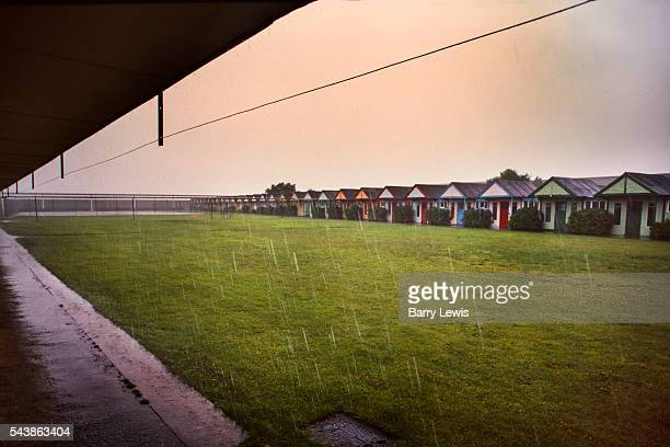 Rain trying to stop play in Butlins Holiday camp Skegness Butlins Skegness is a holiday camp located in Ingoldmells near Skegness in Lincolnshire Sir...