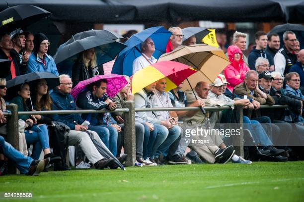 rain umbrella umbrellas during the preseason match between Go Ahead Eagles and KVC Westerlo at sportpark SV Terwolde on July 29 201 in Terwolde The...
