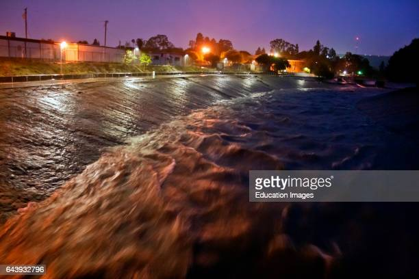 Rain water empties from Storm Pipes into Ballona Creek a ninemile waterway that drains the Los Angeles basin Urban runoff carries an assortment of...