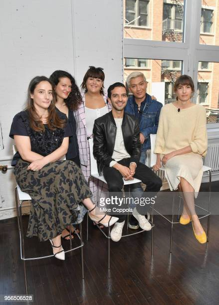 Raina Penchansky, Lauren Sherman, Nicolette Mason, Imran Amed, Bryan Grey Yambao and Gigi Guerra attend an intimate discussion hosted by The Business...
