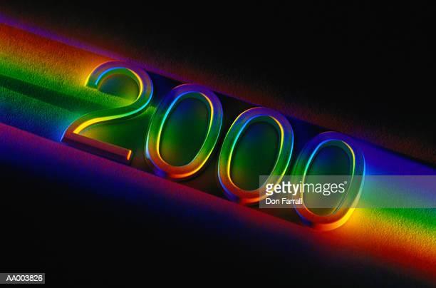 rainbow 2000 sign - 2000 - fotografias e filmes do acervo