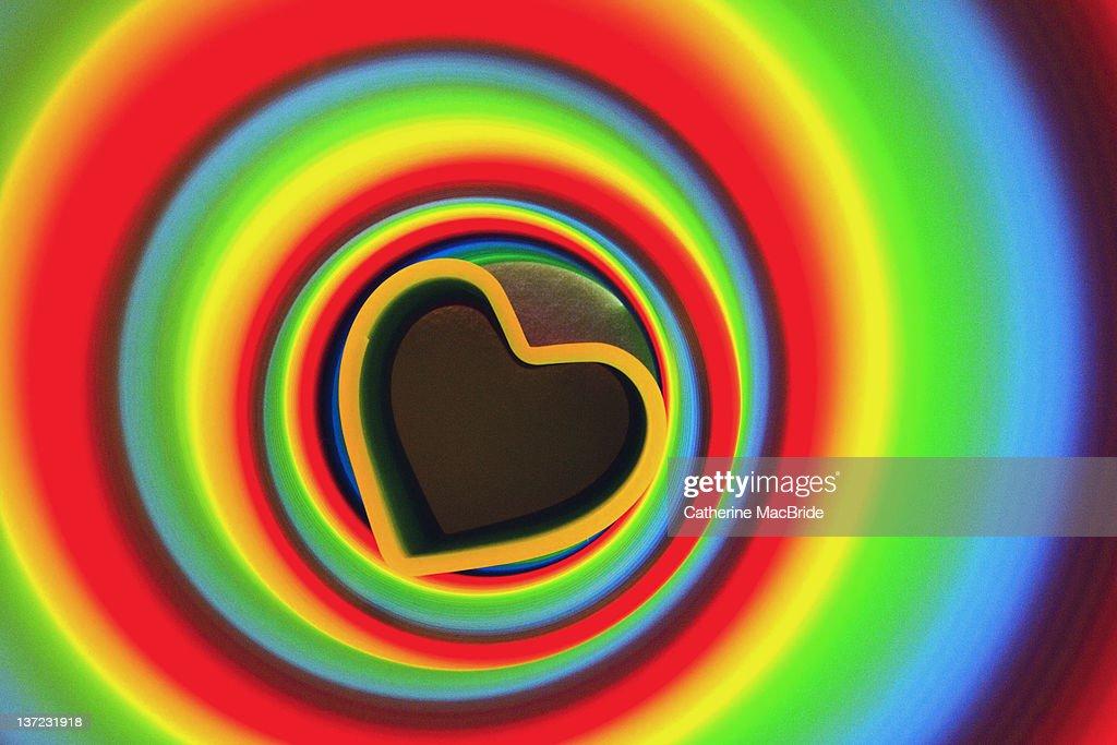 Rainbow abstract heart : Foto de stock