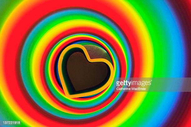 rainbow abstract heart - catherine macbride stock pictures, royalty-free photos & images