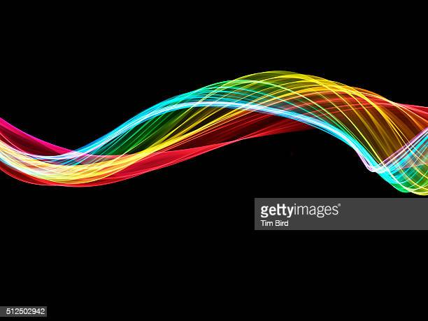 Rainbow abstract swoosh