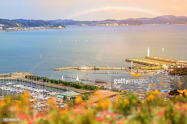 Rainbow and sea