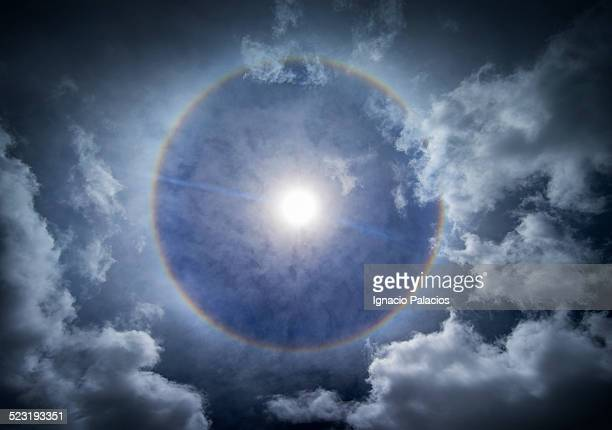 rainbow around the sun, big island of hawaii - halo symbol stock pictures, royalty-free photos & images