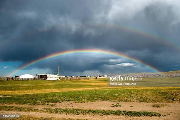 Rainbow at Karakorum of Övörkhangai Province Mongolia
