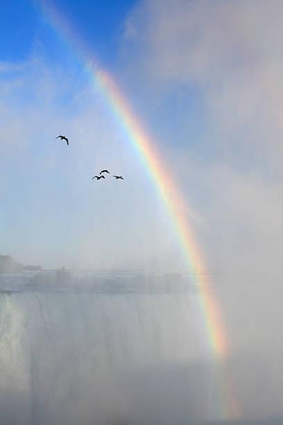 Rainbow at Niagara waterfalls